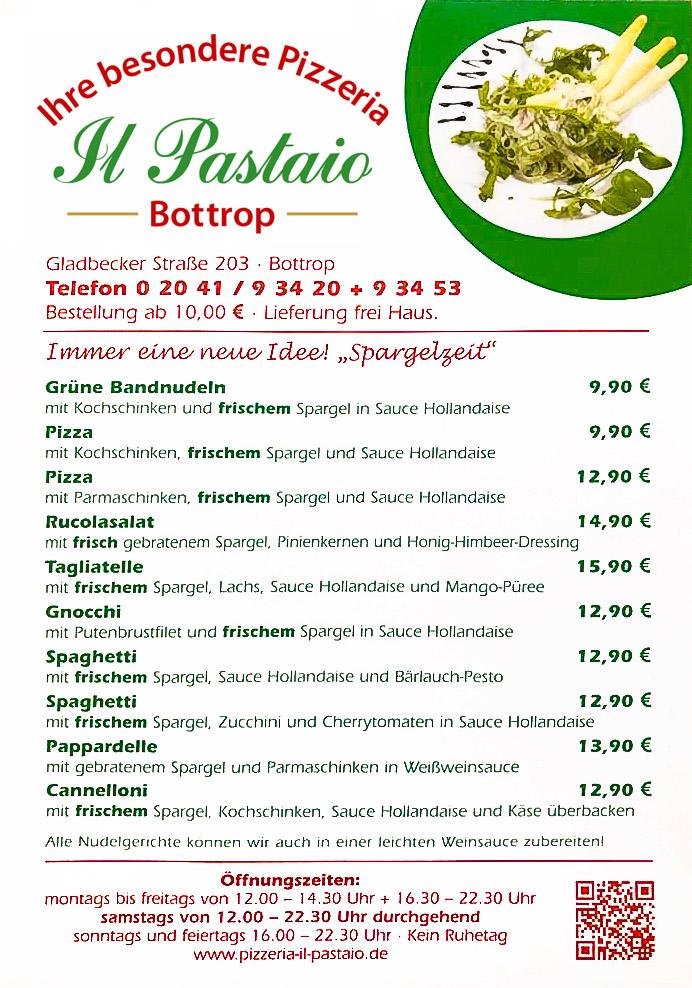 Il Pastaio Ihre Besondere Pizzeria In Bottrop